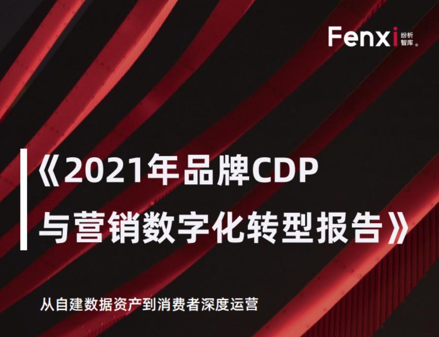 纷析智库:2021年品牌CDP与营销数字化转型报告(附下载)